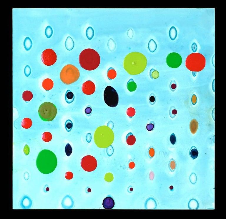 Ellen Hackl Fagan, CSG_M-2, 2011, Enamel, Ink, Acrylic Paint  12 x 12 x 2 inches - Painting by Ellen Hackl Fagan