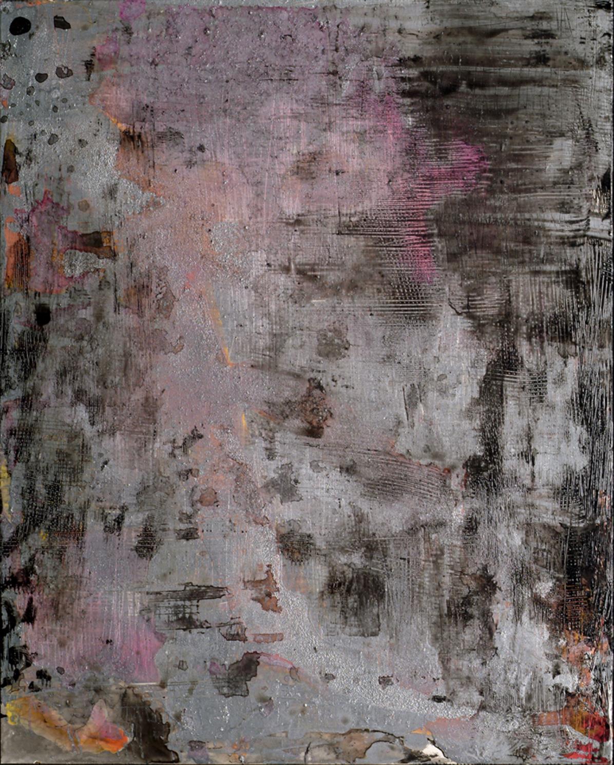 Ellen Hackl Fagan, Dusk, 2006, Enamel, Ink, Acrylic, Aluminum