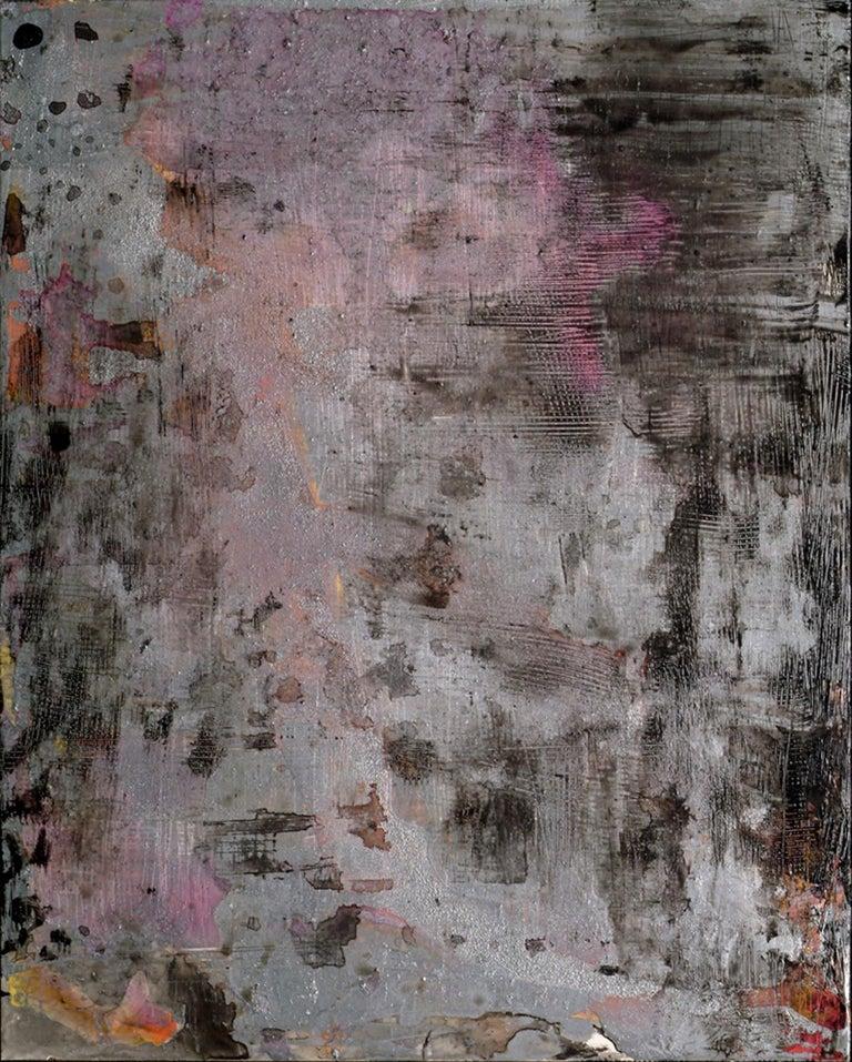Ellen Hackl Fagan, Dusk, 2006, Enamel, Ink, Acrylic, Aluminum - Painting by Ellen Hackl Fagan