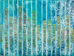 Ellen Hackl Fagan, MoleculesofMusic_Data, 2014, Enamel, Ink, Acrylic Paint