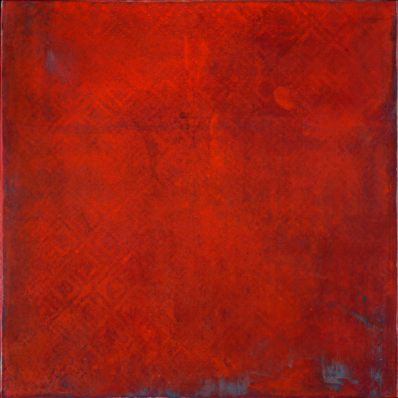 Ellen Hackl Fagan, Red Bliss, 2009, ink, acrylic, clayboard panel
