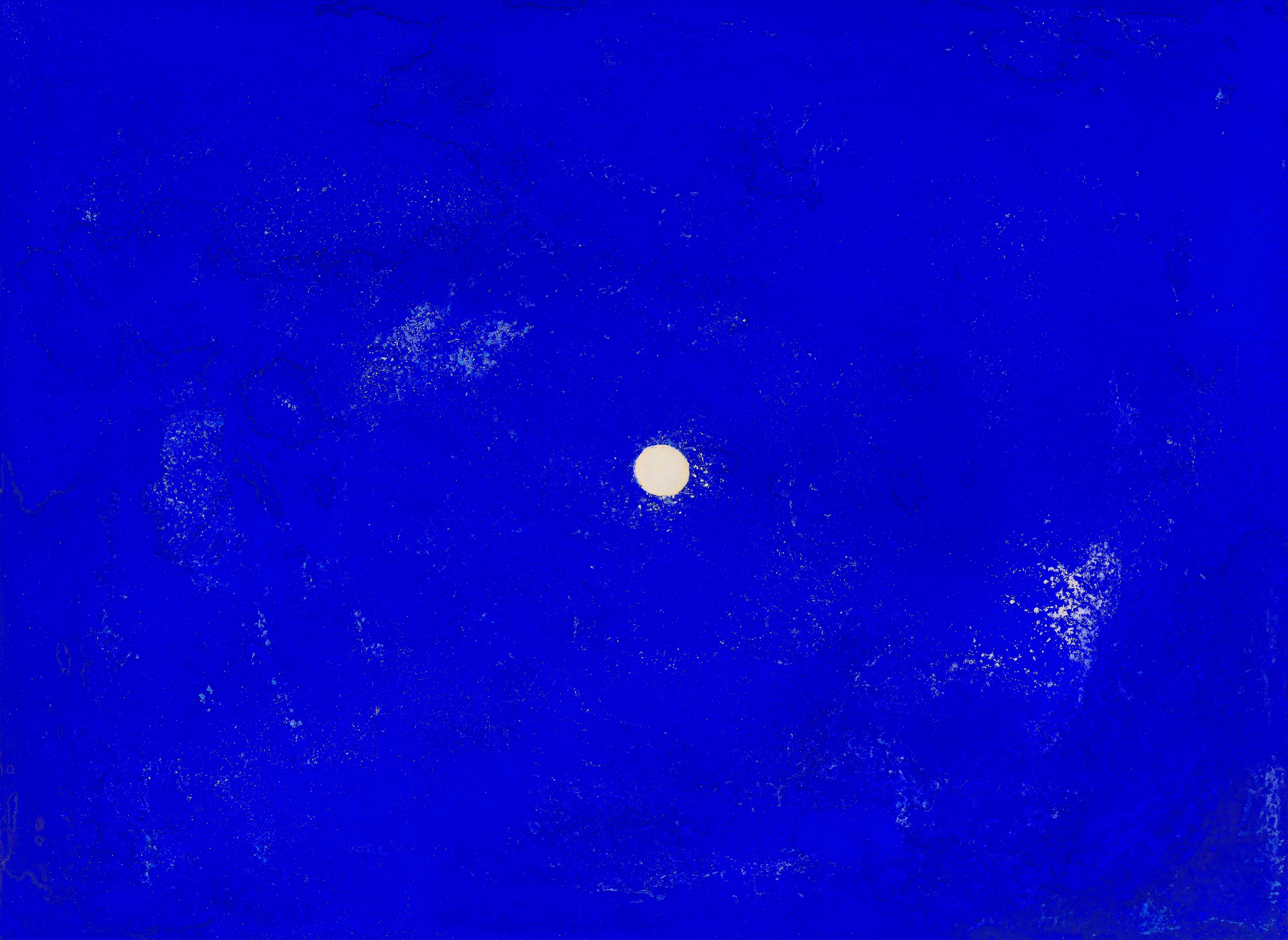 Ellen Hackl Fagan, Seeking the Sound of Cobalt Blue_One,  2014, steel, acrylic