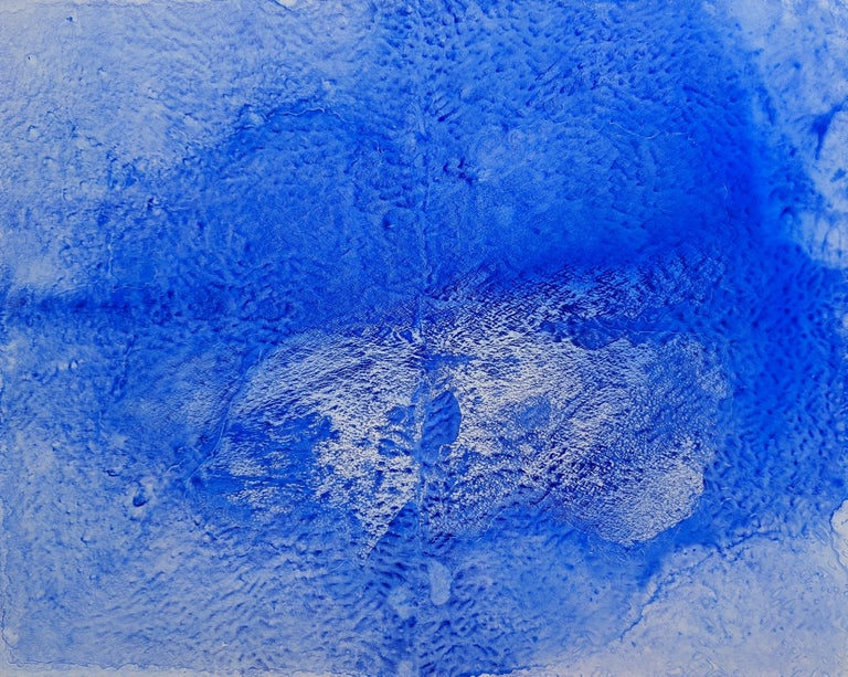Ellen Hackl Fagan, Seeking the Sound of Cobalt Blue_Bliss_1_2020_Color Field - Painting by Ellen Hackl Fagan