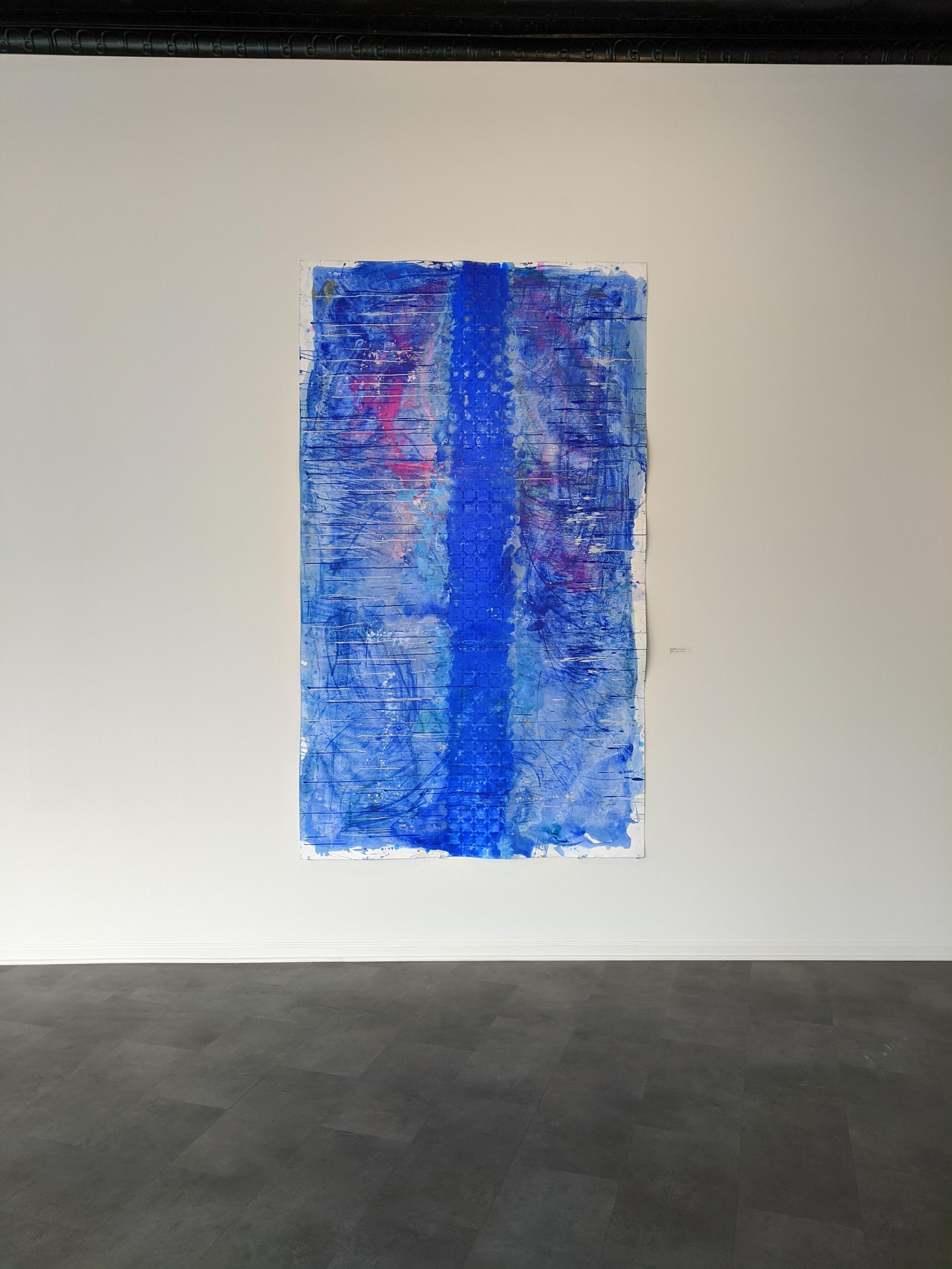 Ellen Hackl Fagan, Seeking the Sound of Cobalt Blue_Grasslands II, 2018