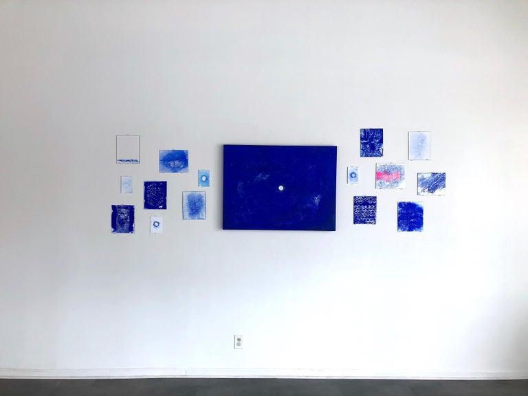Ellen Hackl Fagan, Seeking the Sound of Cobalt Blue_Ribbed_2020_Color For Sale 7