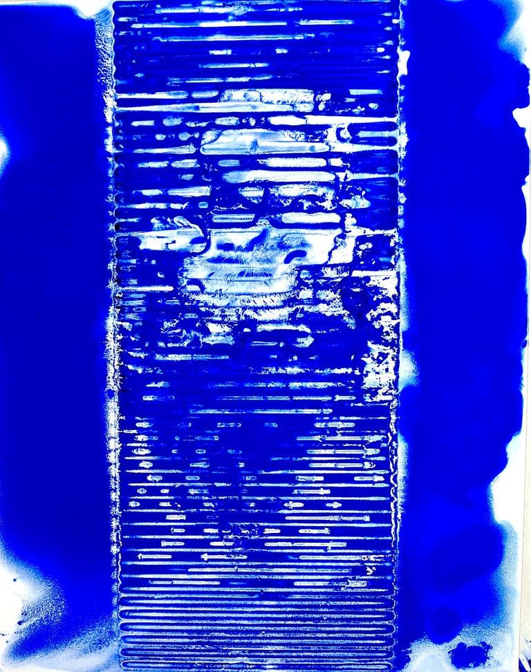 Ellen Hackl Fagan, Seeking the Sound of Cobalt Blue_Ribbed_2020_Color - Painting by Ellen Hackl Fagan