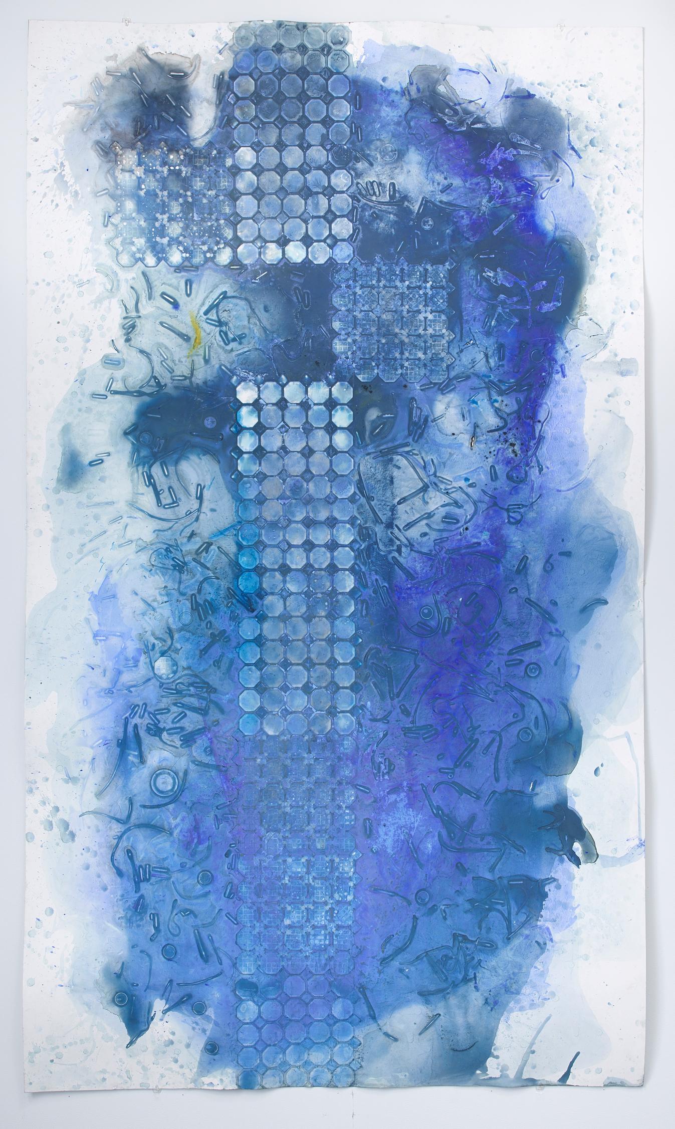 Ellen Hackl Fagan, Seeking the Sound of Cobalt Blue_Space Craft, 2017, Minimalis