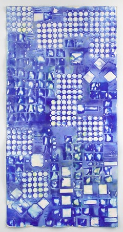 Ellen Hackl Fagan, Seeking the Sound of Cobalt Blue_Tile Capture I, 2016
