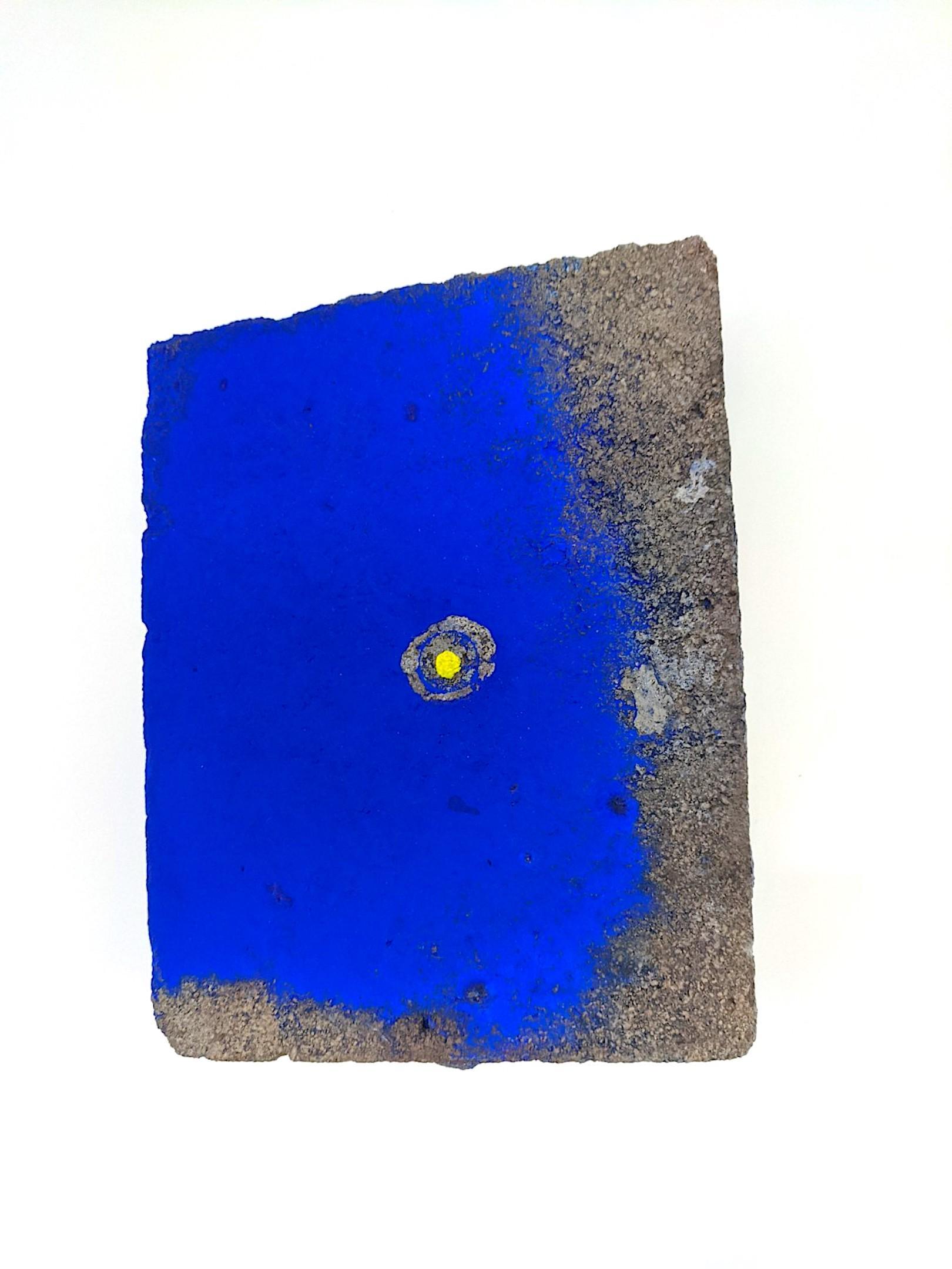 Ellen Hackl Fagan_Seeking the Sound of Cobalt Blue_Paver 3_2020_found object