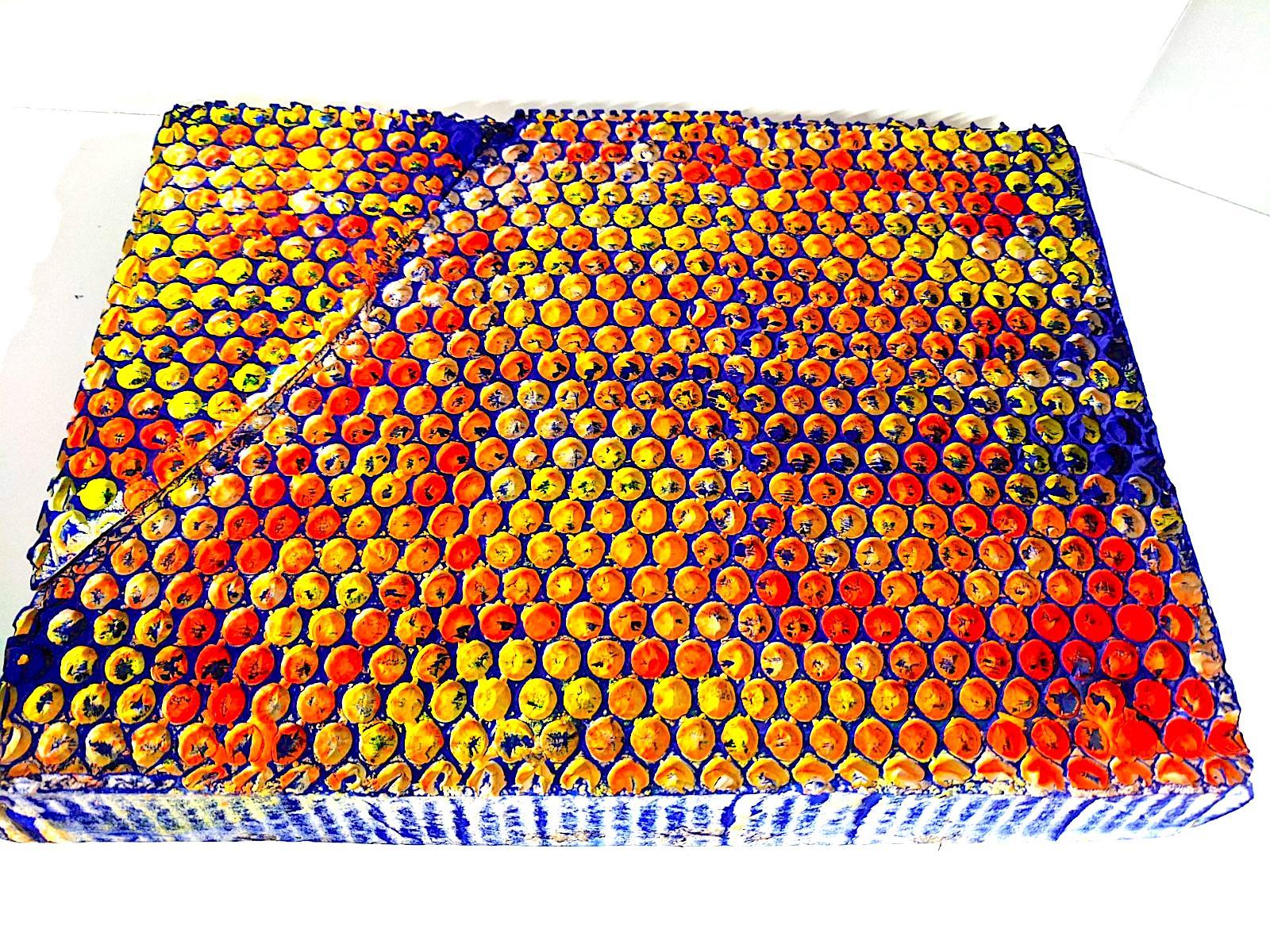 Ellen Hackl Fagan_Technicolor Bubble Wrap _2020_acrylic, ink, plaster