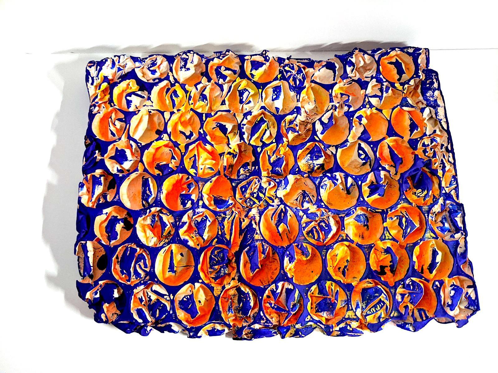 Ellen Hackl Fagan_Technicolor Bubble Wrap II_2020_paint, ink, plaster