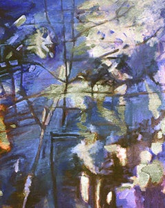 Nightstream , oil & acrylic painting, Abstract Expressionism Style.Women in Art