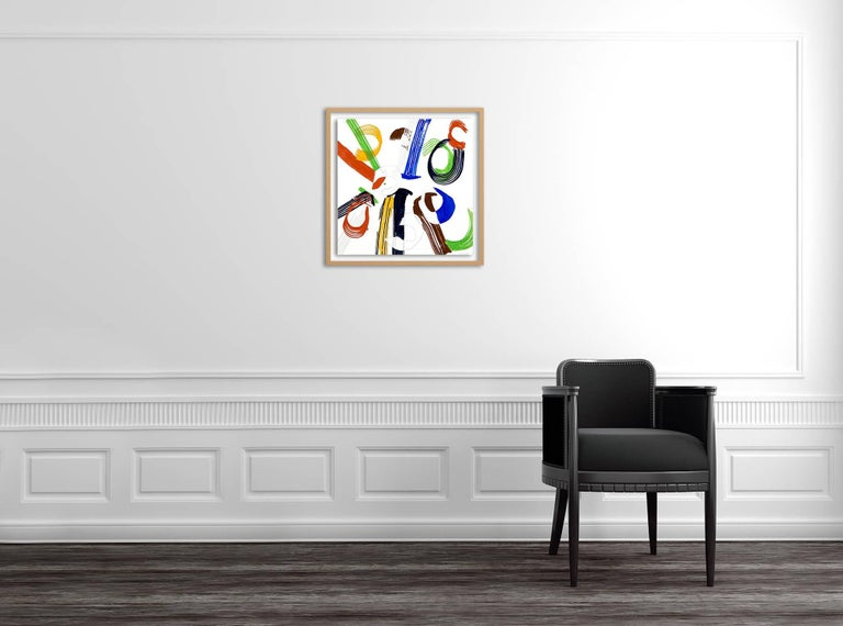 Jazz Cubano 46: Percussion Drawing (Abstract painting) - Art by Ellen Priest