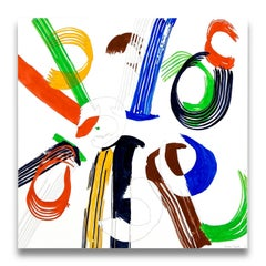 Jazz Cubano 46: Percussion Drawing (Abstract painting)