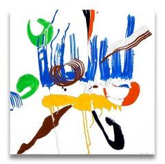 Jazz Cubano 48: Percussion Drawing (Abstract painting)