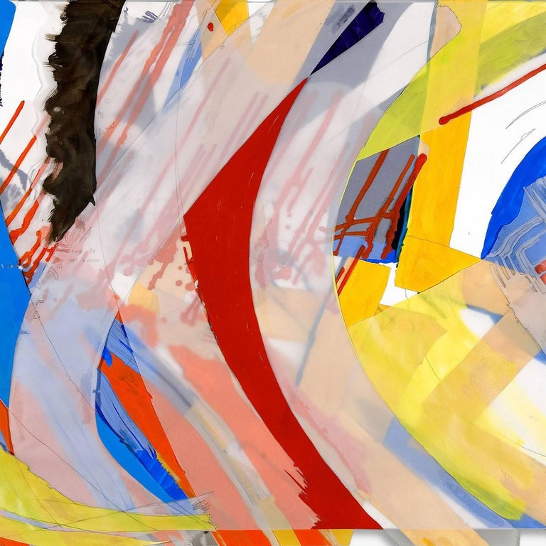 Jazz: Thinking Out Loud, Reaching for Song 31 - Abstract Painting by Ellen Priest