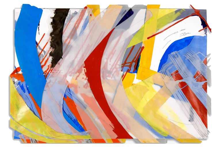 Ellen Priest Abstract Painting - Jazz: Thinking Out Loud, Reaching for Song 31