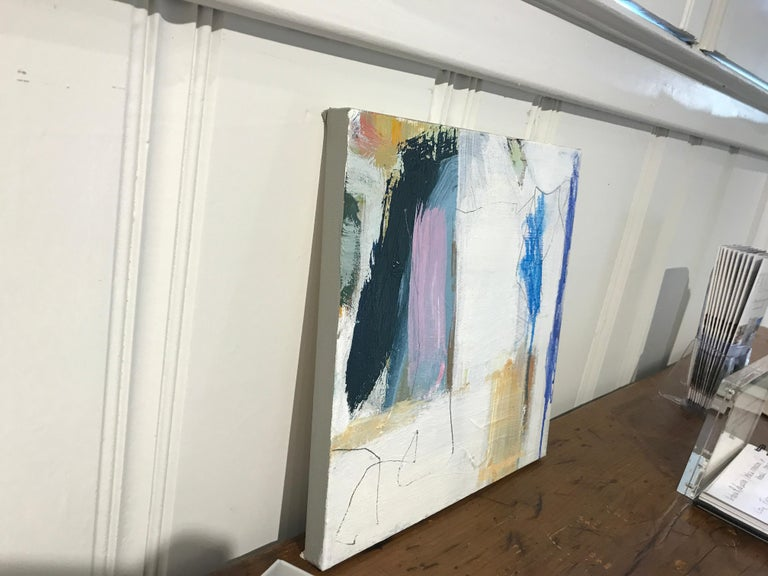 Aloft by Ellen Rolli, Small Abstract Acrylic and Mixed Media on Canvas Painting For Sale 2