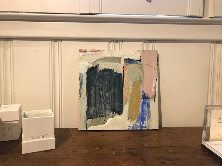 Aloft by Ellen Rolli, Small Abstract Acrylic and Mixed Media on Canvas Painting For Sale 4