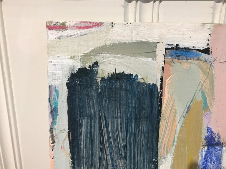 Aloft by Ellen Rolli, Small Abstract Acrylic and Mixed Media on Canvas Painting For Sale 5