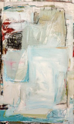 Conteur & Movement (Geometric, Abstract, muted, painting, on canvas)