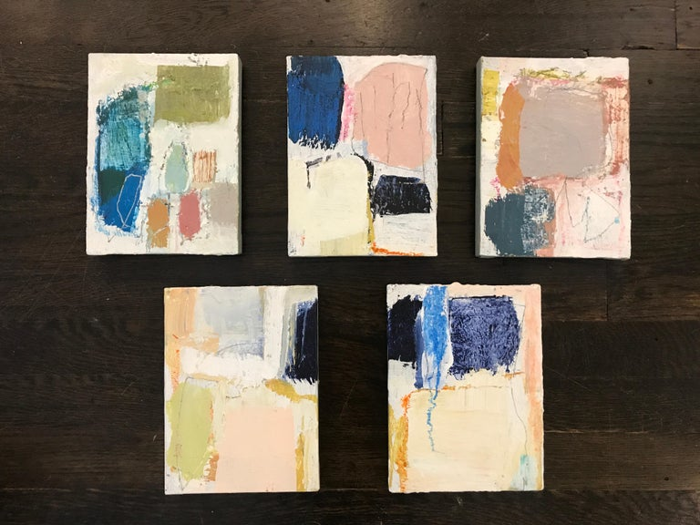 Gathering by Ellen Rolli, 2018, Petite Gift-able Abstract Painting For Sale 1