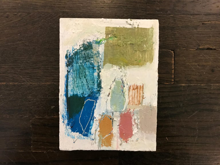 Gathering by Ellen Rolli, 2018, Petite Gift-able Abstract Painting For Sale 2