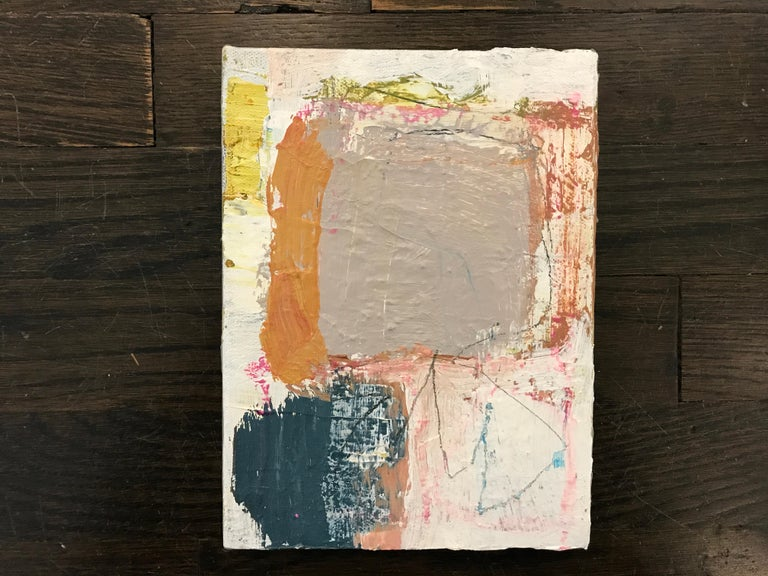 Harmonious by Ellen Rolli, 2018, Petite Gift-able Abstract Painting For Sale 2