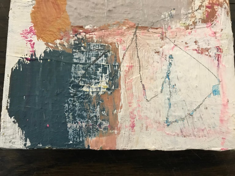 Harmonious by Ellen Rolli, 2018, Petite Gift-able Abstract Painting For Sale 3