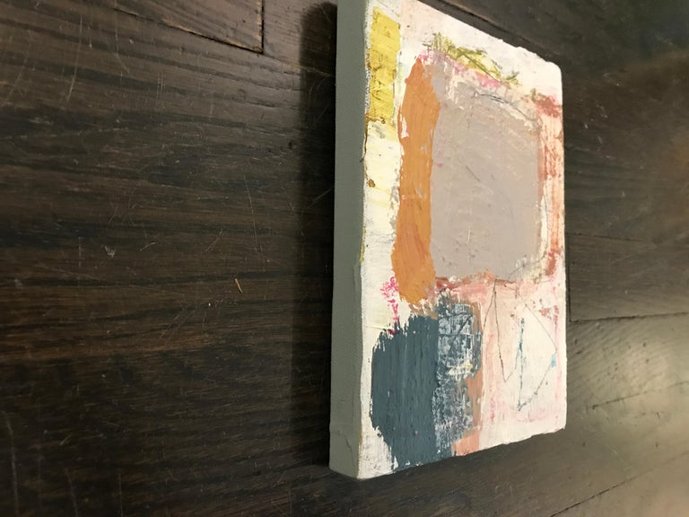 Harmonious by Ellen Rolli, 2018, Petite Gift-able Abstract Painting For Sale 7