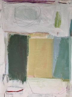 Kindred (Geometric, Abstract, muted, painting, on canvas)