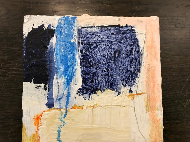 Soothe by Ellen Rolli, 2018, Petite Gift-able Abstract Painting For Sale 4