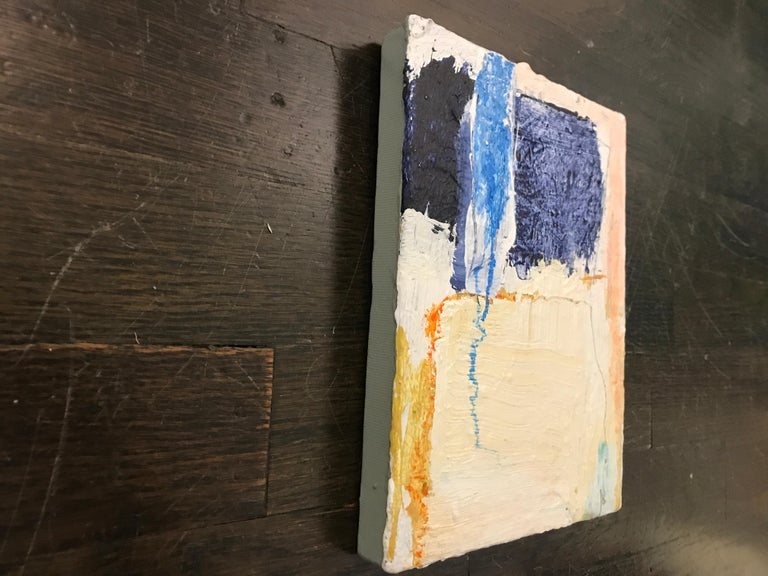 Soothe by Ellen Rolli, 2018, Petite Gift-able Abstract Painting For Sale 5