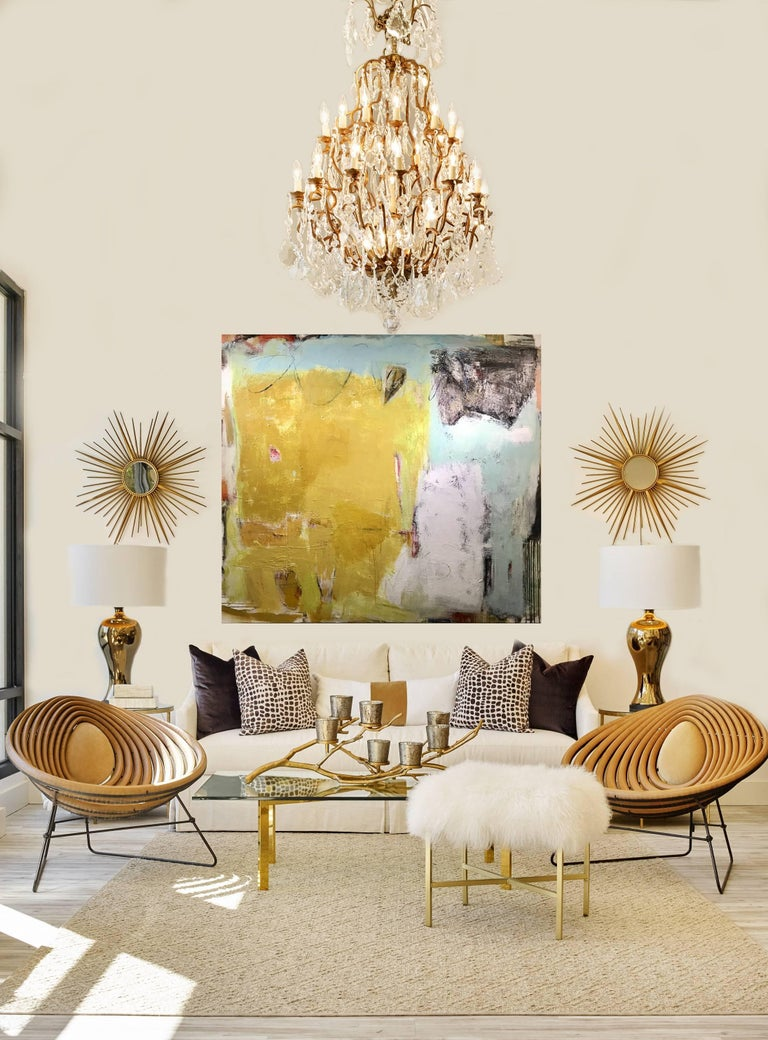 Synergy, Large Contemporary Acrylic and Mixed Media on Canvas Abstract Painting For Sale 1