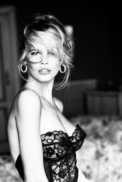 Claudia Schiffer, Marrakech, Celebrity, black and white photography, nude