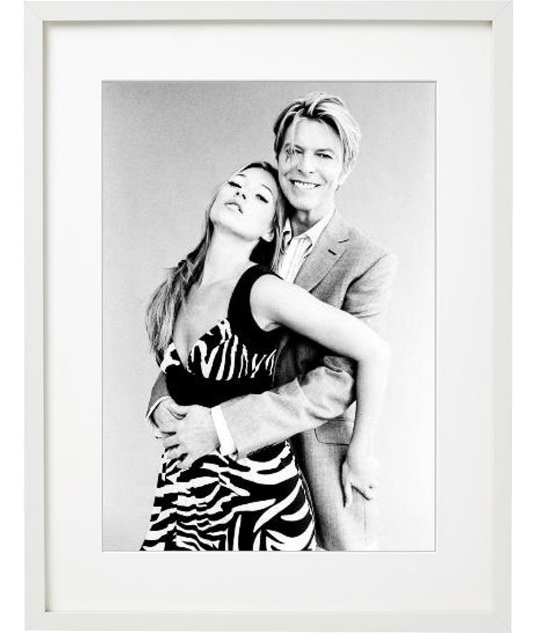 David Bowie and Kate Moss - portrait of the icons of music and fashion