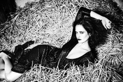 Eva Green, Celebrity, black and white photography, nude