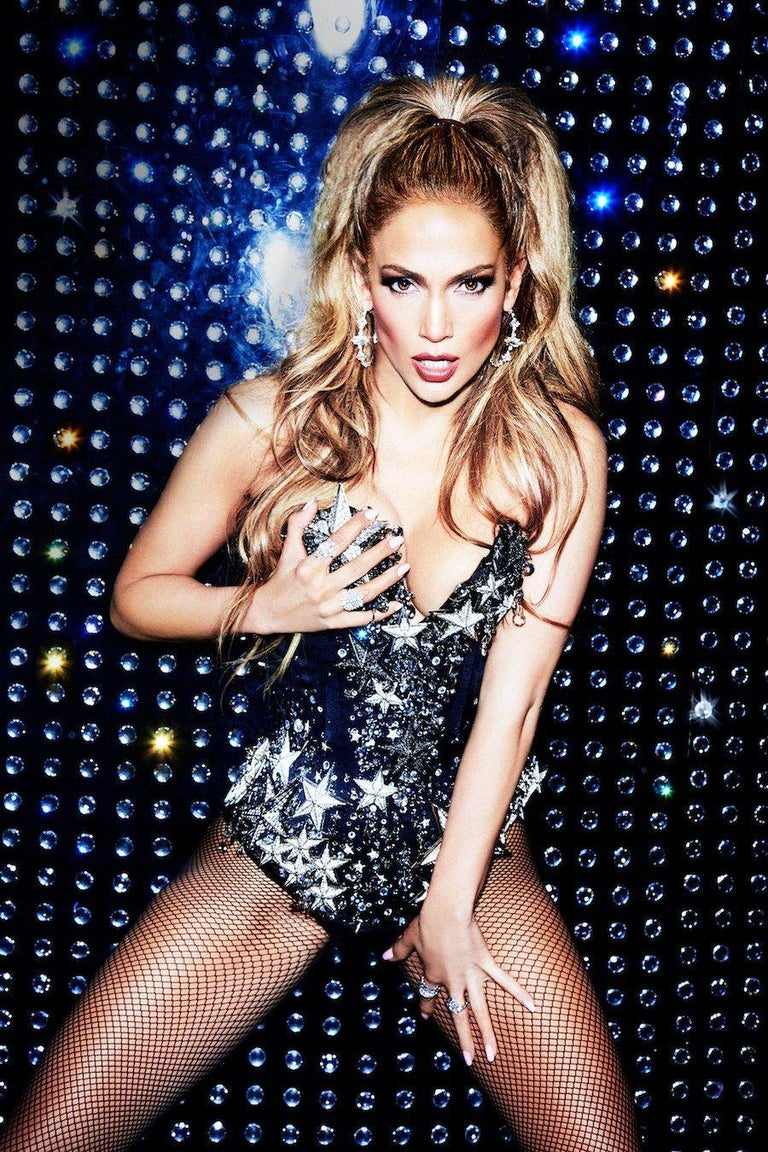 Ellen von Unwerth Portrait Photograph - Jennifer Lopez - glamorous portrait of the pop star and diva