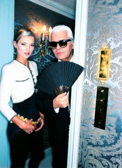 Kate Moss in Chanel & Karl Lagerfeld - supermodel & star designer portrait