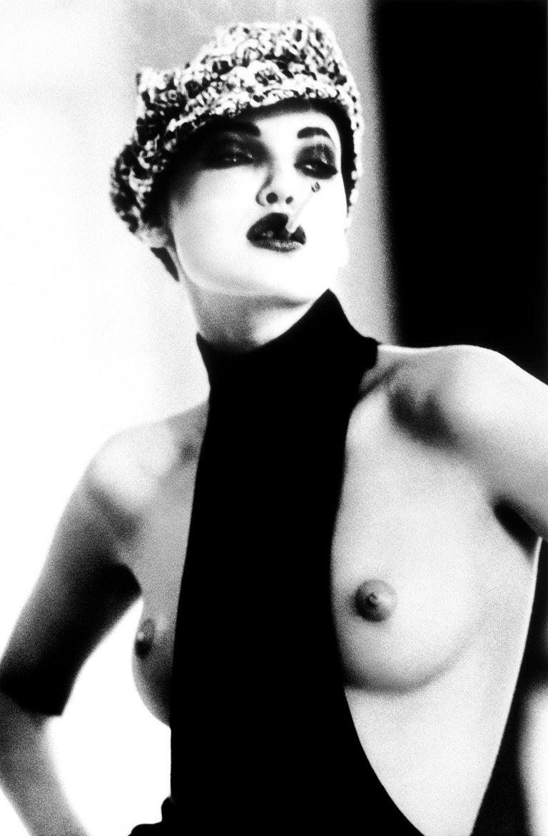 Ellen von Unwerth Black and White Photograph - La Garçonne, Nadja Auermann, Paris