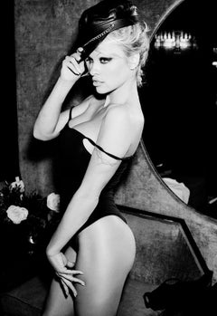 Pamela Anderson, New York, Celebrity, black and white photography, nude