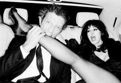 Vincent Cassel et Monica Bellucci, Paris, Celebrity, black and white photography