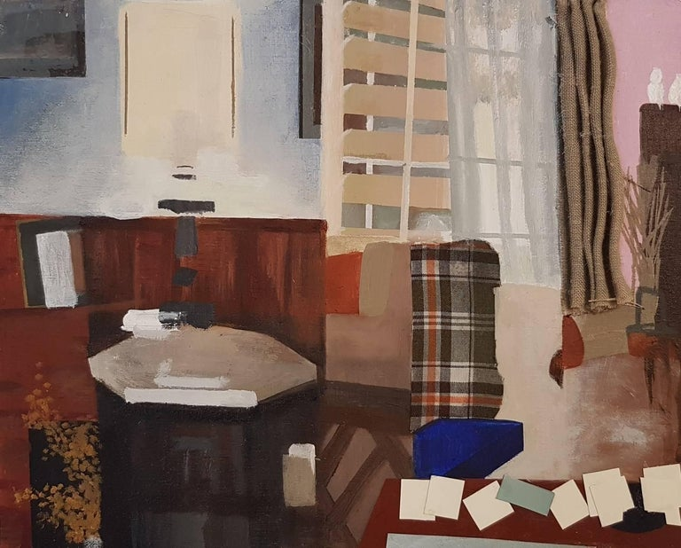 Ellen Weitkamp Figurative Painting - Pink Living Room