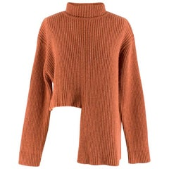 Ellery Vallauris asymmetric-hem terracotta sweater