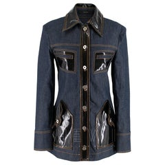 Ellery Vinyl-Panel Denim Jacket SIZE 38 IT