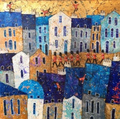 Changing of the Guard - contemporary London colorful architecture painting