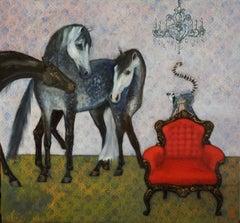 Il Consiglio del Re - Oil Painting on Canvas
