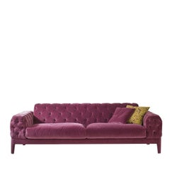 Elliot Fuchsia Tufted Sofa