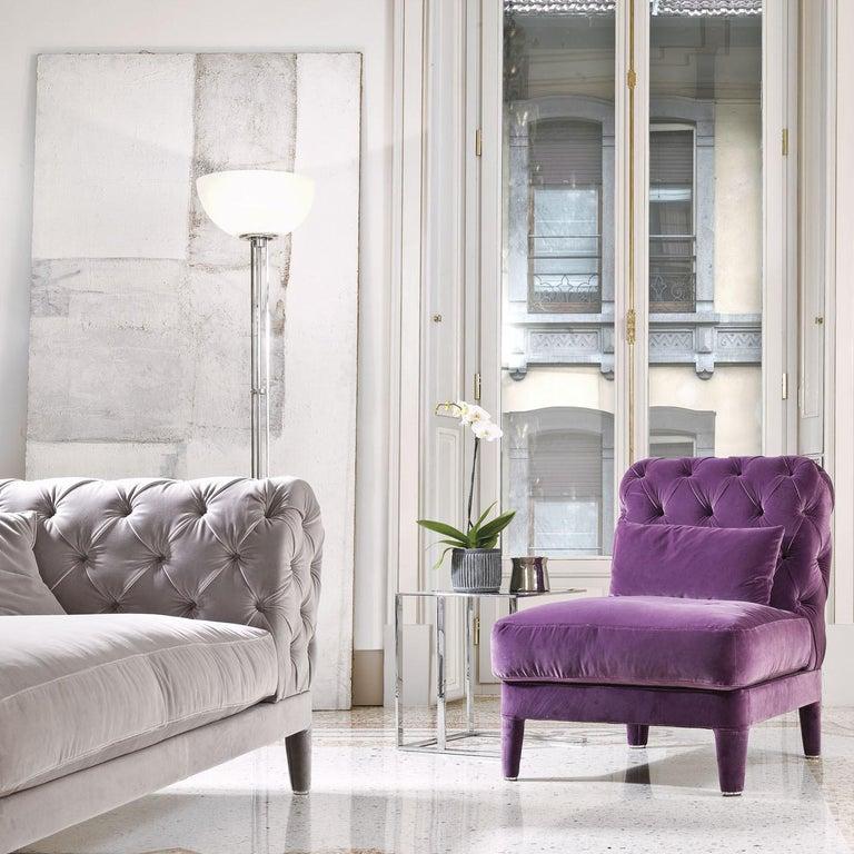 Italian Elliot Magenta Chair For Sale