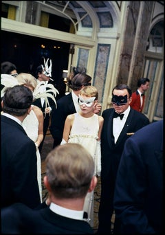 "Frank Sinatra & Mia Farrow at Truman Capote's ""Black & White Ball"",  New YorK"